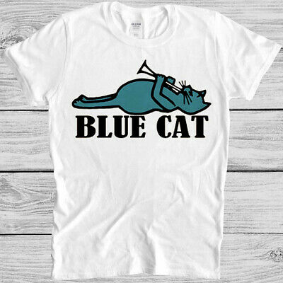 £9.59 • Buy Blue Cat Records T Shirt  60s Soul R&B Music Label Retro Cool Gift Tee 5600