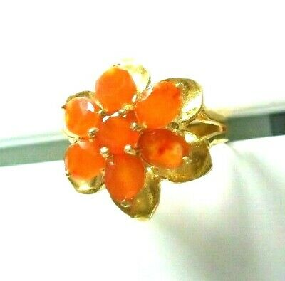 £19 • Buy Mexican Orange Opal Ring Size 6
