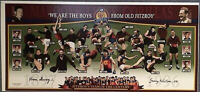 AU149 • Buy KEVIN MURRAY & WILSON Autograph Signed Print Fitzroy Team Of The Century COA