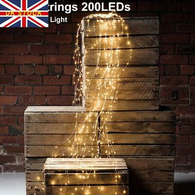 2M 200LEDs Fairy String Waterfall Lights Vines Branch Tree Lights Home Indoor • 9.19£