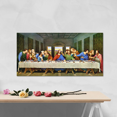 £20 • Buy The Last Supper (Restored) By Da Vinci - Quality Canvas Wall Art, Ready To Hang