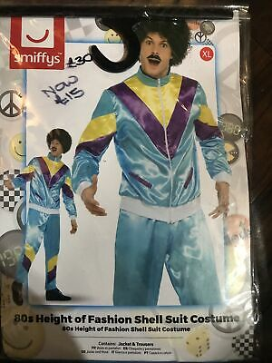 80's Smiffys Costume Scouser Shell Suit Mens Fancy Dress Outfit XL • 15£