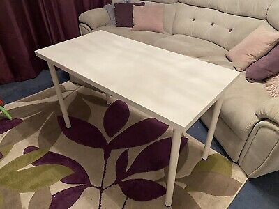Computer Table Desk White. Ikea Adils 120x 60cm  • 20£