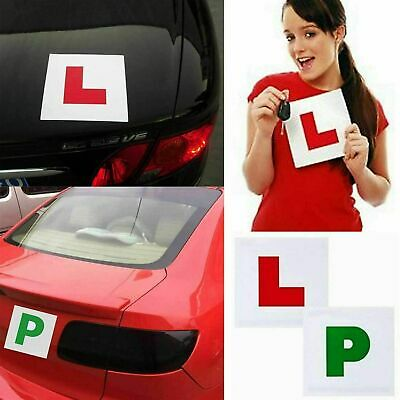 L PLATES P PLATES 4 X FULLY MAGNETIC SECURE Quick Easy To Fix Learner Sign • 1.99£