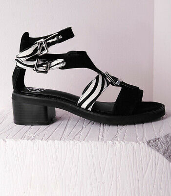 Missguided Womens Size 7 Pony Zebra Sandals Brand New Never Worn UK SELLER • 2.20£