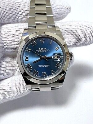 $ CDN11555.03 • Buy Rolex Oyster Perpetual 126300 Datejust Blue Box And Papers Mint