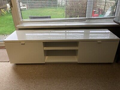 Ikea Byas TV Cabinet White Good Condition.  • 40£