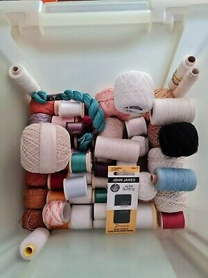 Bundle Of Lace Making Cottons, Beads And Needles • 10£