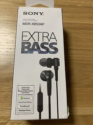 Sony Extra Bass In Ear Wired Headphones - Black (MDR-XB50AP) • 3.20£