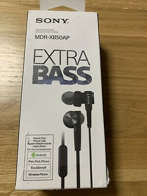 Sony Extra Bass In Ear Wired Headphones - Blue (MDR-XB50AP) • 2.20£