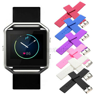 AU4.08 • Buy Replacement Silicone Gel Band Strap Bracelet Wristband For FITBIT BLAZE  ~