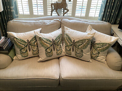 Butterfly Cushion Covers French Country Style X4 50x50 Cm • 6.99£