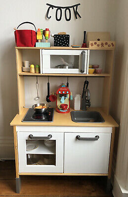 IKEA Kids DUKTIG Wooden Toy Play Kitchen With Lots Of Extra Accessories • 25£
