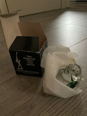 Langham Glass - Duck Paperweight , Brand New In Box • 0.99£