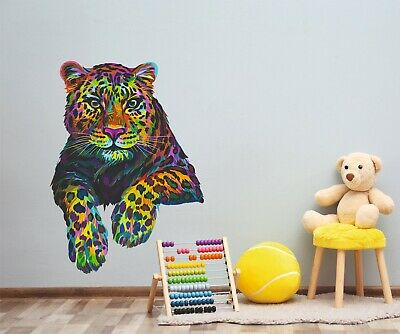 £4.99 • Buy Tiger Colourful Home Sticker Decal Wall Art Living Room Sticker Vinyl Z222