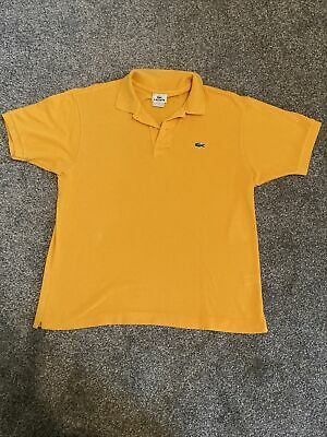 Mens Lacoste Polo Shirt Mustard Size 5 Large • 7.50£