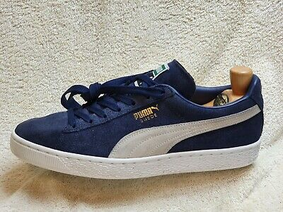 AU7.12 • Buy Puma Suede Mens Trainers Leather Navy/White UK 9 EUR 43 US 10
