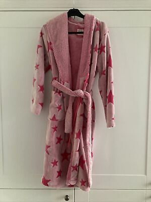 AU2.17 • Buy Womens Dressing Gown Size 10-12 Pink Stars