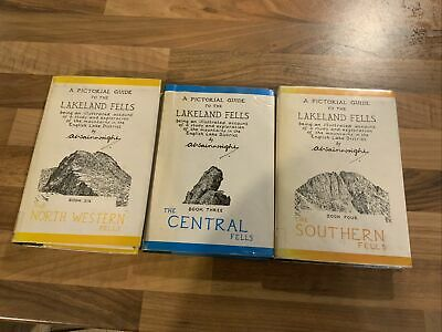 Wainwright - Lakeland Fells 3 Volumes -  NWestern, Southern & Central • 10£