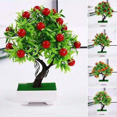 Artificial Potted Plant Fake 23 Fruits Wedding Home Decor High Quality Durable • 8.20£