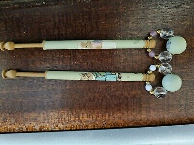 Beatrix Potter Character Decorated Lacemaking Bobbins • 24.30£
