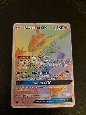 $ CDN300 • Buy Pokemon Celestial Storm Rayquaza GX Secret Rare Rainbow # 177/168