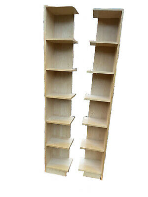 IKEA Billy Bookcase Pair Of End Units (Book/Display Shelf) In Birch • 29.99£