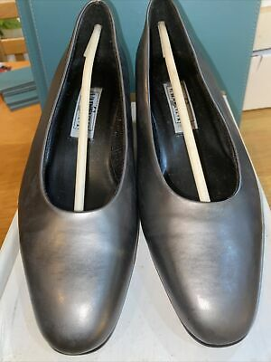 VABENNI Ladies Pewter Court Office Work Party Shoes Size UK 7E VGC Low Heel • 3.99£