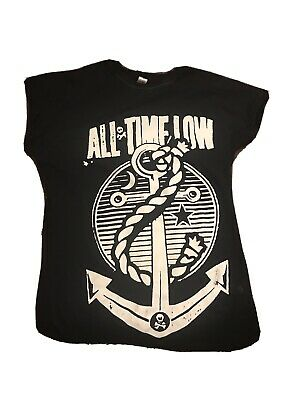 All Time Low Anchor T-Shirt Womens Medium • 12£