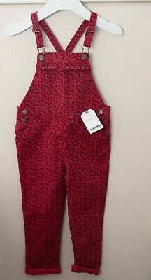 Girls Next Dungarees, Red, 2-3 Years, BNWT • 7£