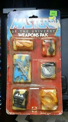 $26 • Buy Weapons Pak He-Man MOSC NEW 1983 He-Man MOTU Masters Of The Universe