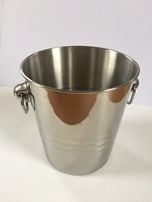 Bar Craft Champagne/Wine Ice Bucket Bottle Cooler - Stainless Steel • 2.50£