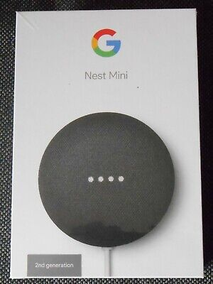 AU45 • Buy Google Nest Mini Smart Assistant & Speaker (Charcoal) 2nd Gen - Brand New