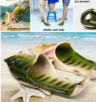 $ CDN34.84 • Buy 2019 Unisex Strange Fish Style Beach Slippers- Breathable Summer Sandals Gifts