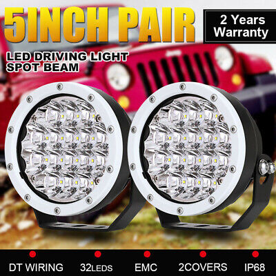 AU72.99 • Buy Pair 5inch LED OSRAM Driving Lights SPOT BEAM Work Lamp Offroad 4x4 Black Round