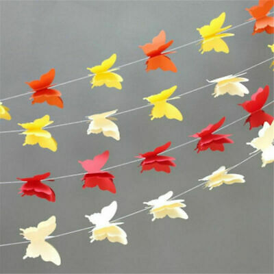 £2.66 • Buy 2.7m Colorful Butterfly Bunting Banner Hanging Wedding Party Garland Home Decor