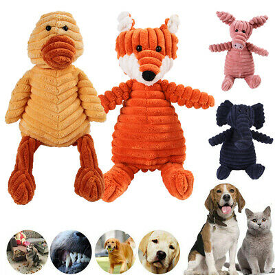 £5.99 • Buy Cute Pet Dog Chew Toy Squeaker Squeaky Soft Plush Play Sound Puppy Teeth Toys UK
