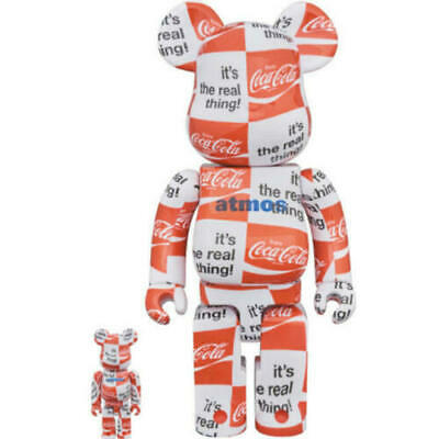 $250 • Buy Bearbrick Atmos Coca Cola 400%&100% Be@rbrick Checkerboard Medicom Toy Limited