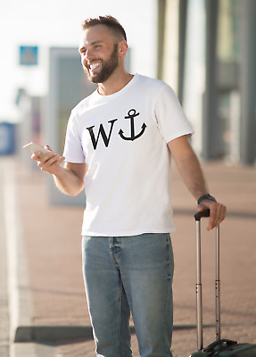 W And An Anchor T-Shirt - Funny Joke Rude Novelty Idea Presents Tee Top Present • 9.99£