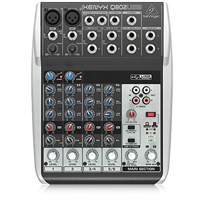 $ CDN129.69 • Buy Behringer Premium 8 Input 2 Bus Mixer With XENYX Mic Preamps/Compressors/British