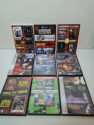 Horror DVD Bundle X9 4-2 Film Pack 30 Movie Gore Blood Slasher Demon • 9.99£