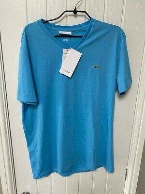 Lacoste Mens T-shirt. Size: Fr 5. Medium. Cotton. New With Tags. Colour: Blue. • 14.99£