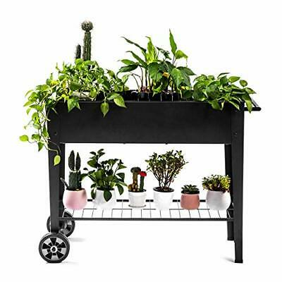 Raised Garden Planter Box With Legs Outdoor Metal Elevated Garden Bed On  • 85.59£