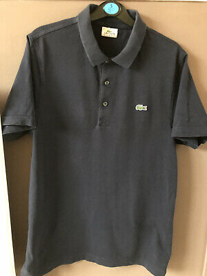 Mens Lacoste Polo Shirt Navy Blue Size 4 Medium.slight Mark On Front • 3£
