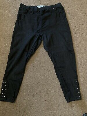 Ladies Jeggins Jeans With Lace Up Detail At Ankles Size 20 • 3£