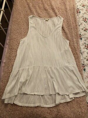 LADIES - H&M White Floaty Top (LARGE) (SIZE 16/18) • 2£