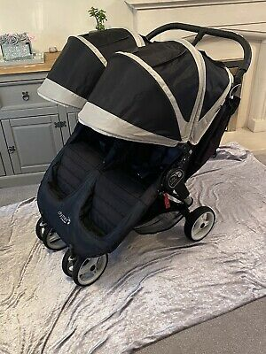 Baby Jogger City Mini Double Twin Pushchair - Black • 85£