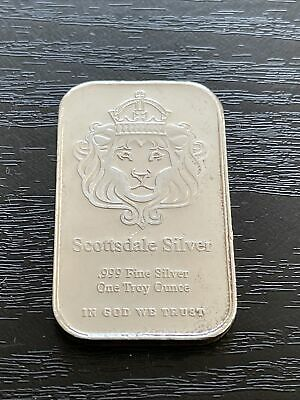 Scottsdale 1oz Silver Bullion Ingot Bar. • 27£