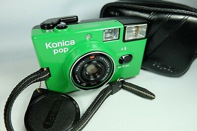 Old Vintage KONICA Compact 35mm Film Camera Green • 80£