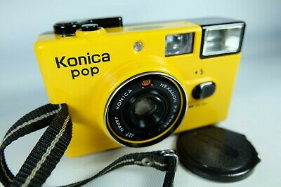 Old Vintage KONICA Compact 35mm Film Camera Yellow • 70£